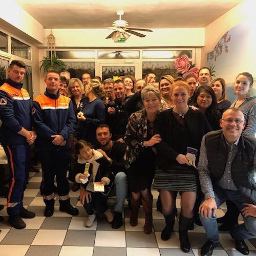 Photo de groupe lors de l'Afterwork de l'association Coeur de Gare