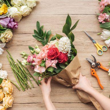 Création d'une composition florale