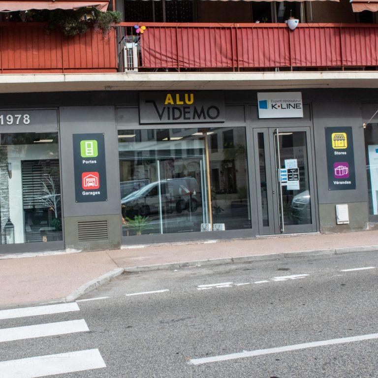 Vitrine de la boutique Alu Videmo