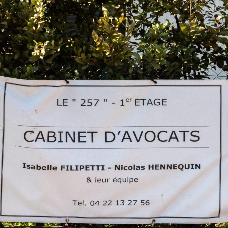Affiche des avocats Isabelle Filipeti et Nicoles Hennequin