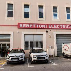 Entrée des locaux Berettoni Electricite