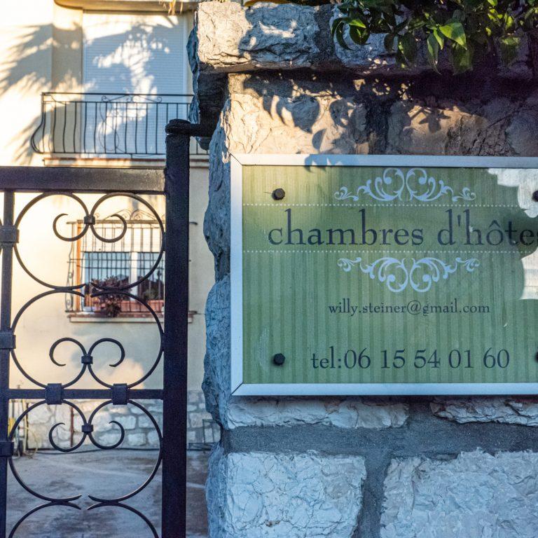 Chambre d'hôte à Saint Laurent du Var