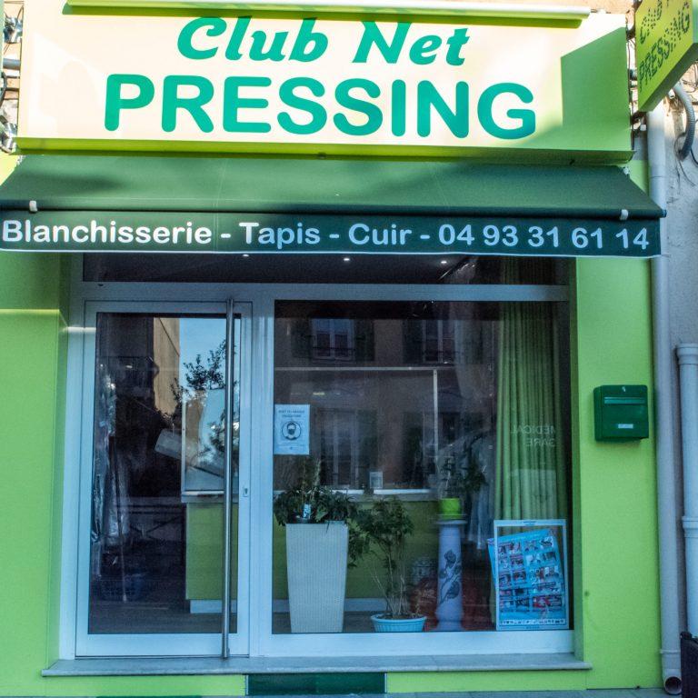 Devanture de Club Net Pressing