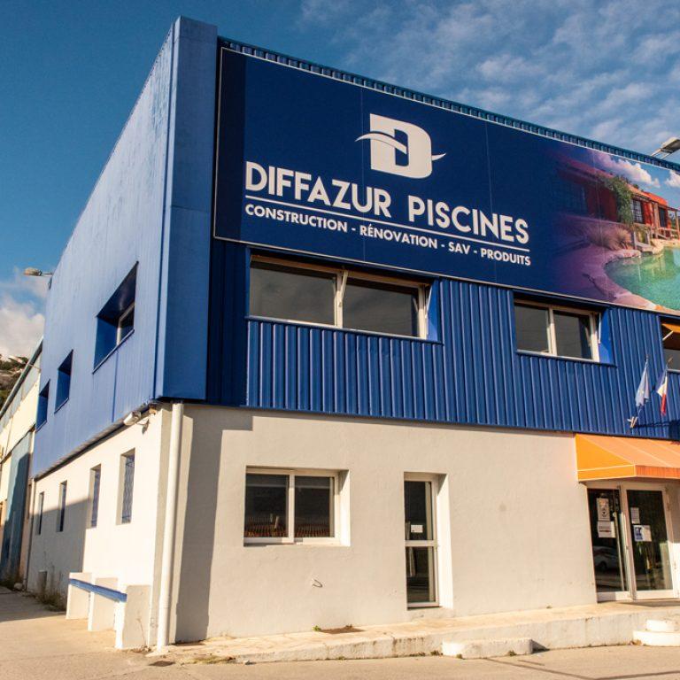Devanture des locaux de Diffazur Piscines