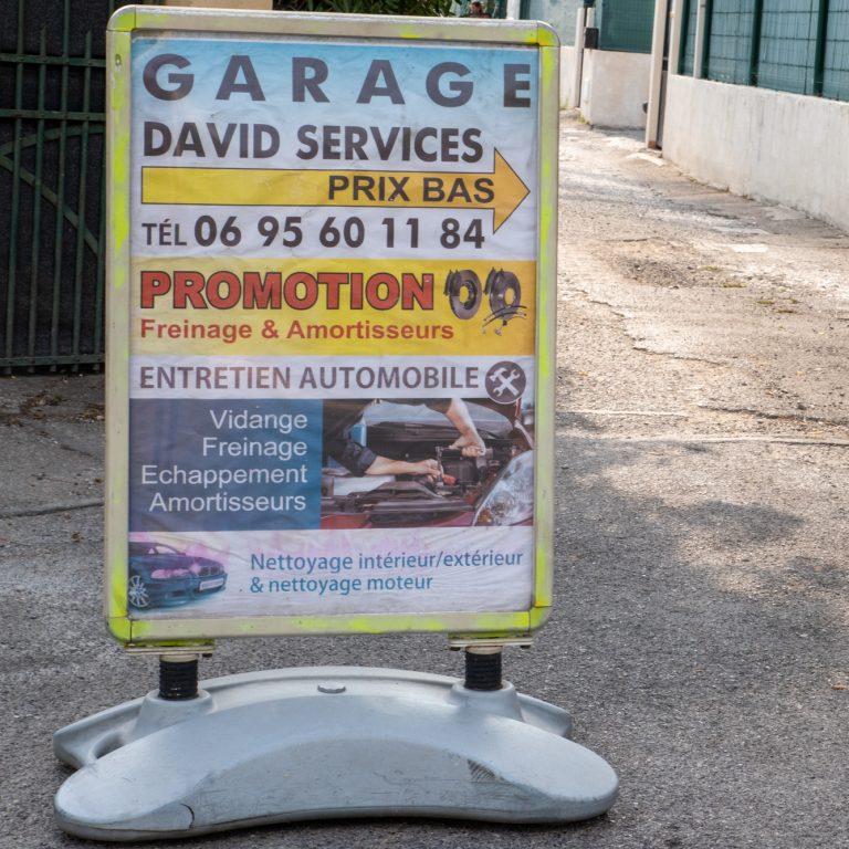 Affiche indicative du Garage David Services