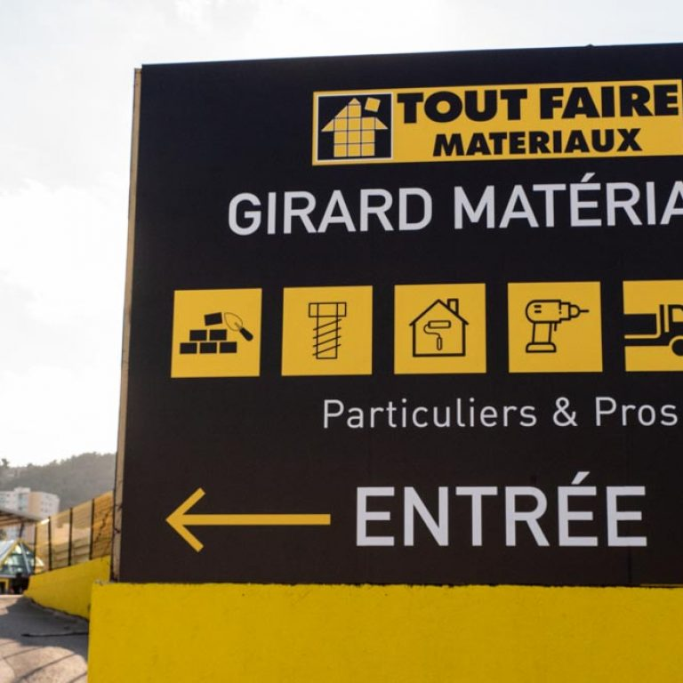 Affiche de l'entreprise Girard Matériaux