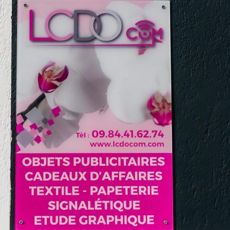 Plaque de l'entreprise LCDO