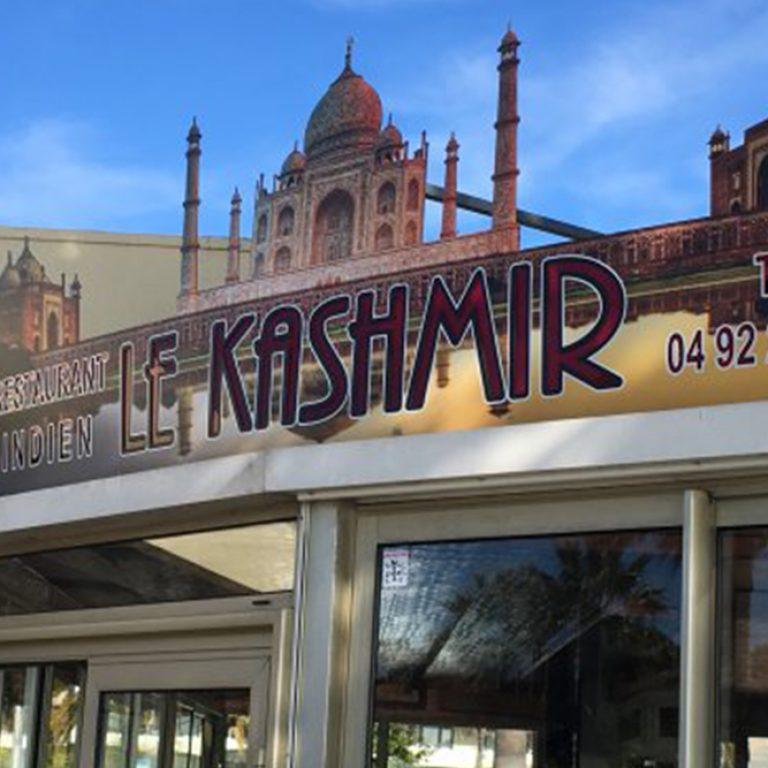 Enseigne du restaurant le Kashmir