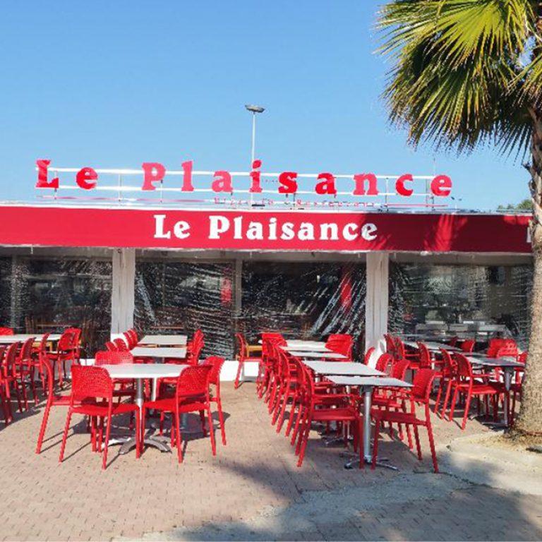 Terrasse du restaurant Le Plaisance