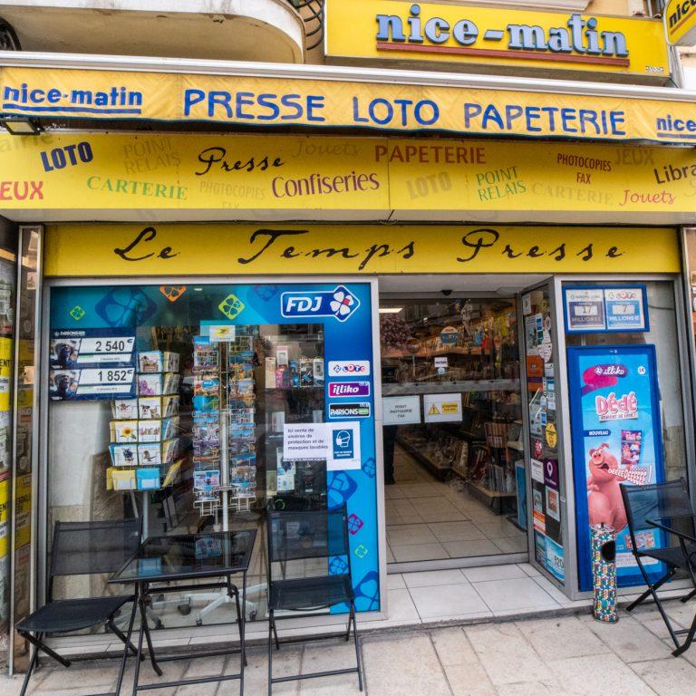 Extérieur de Le Temps presse à Saint Laurent du Var
