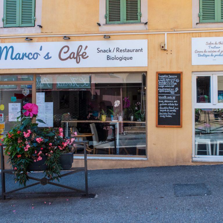 Devanture du Marco's Café à Saint Laurent du Var