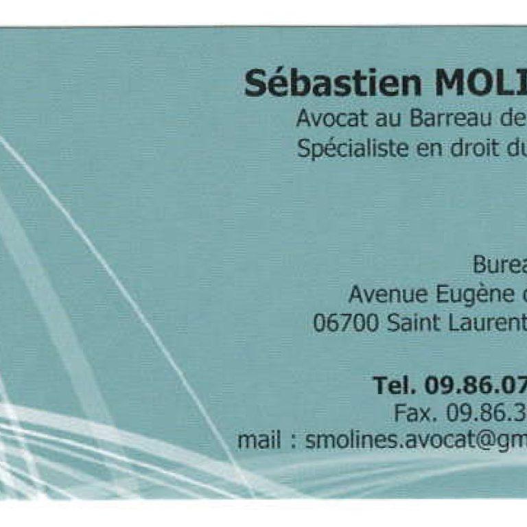 Carte de visite de Sebastien Molines