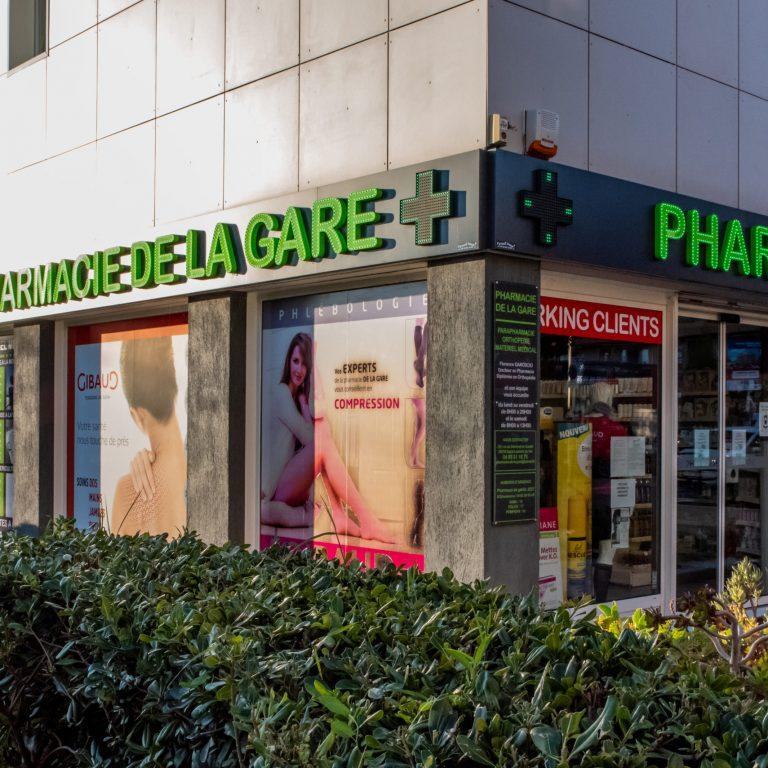 Devanture Pharmacie de La Gare