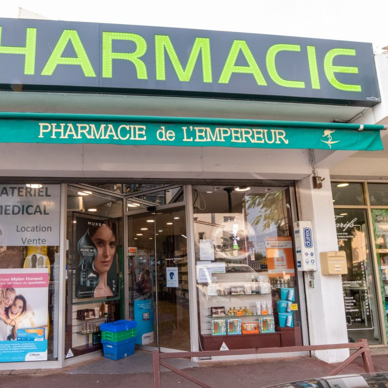 Vitrine de la pharmacie de l'empereur