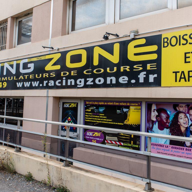 Devanture du magasin Racing Zone
