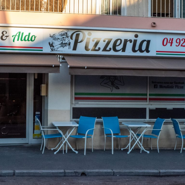 Terrasse de la Pizzeria Step & Aldo