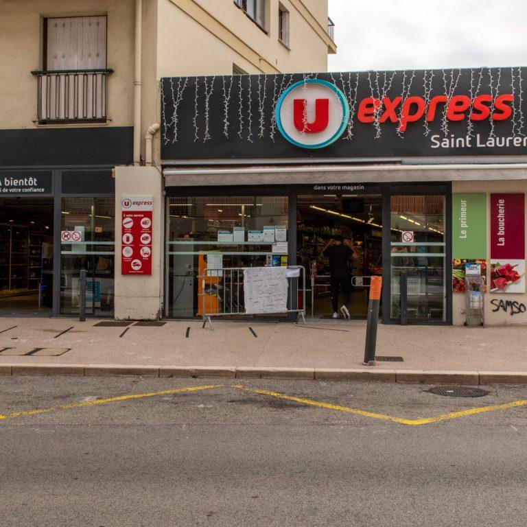 Devanture du magasin U express Saint Laurent du Var